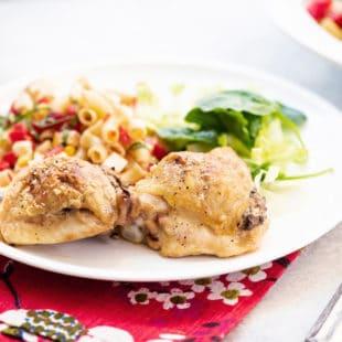 Chicken Thighs Stuffed With Mushrooms / Katie Workman / themom100.com / Photo by Cheyenne Cohen