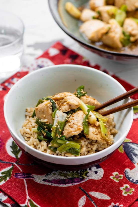 Chicken Breasts and Scallions Recipe / Katie Workman / themom100.com / Photo by Cheyenne Cohen