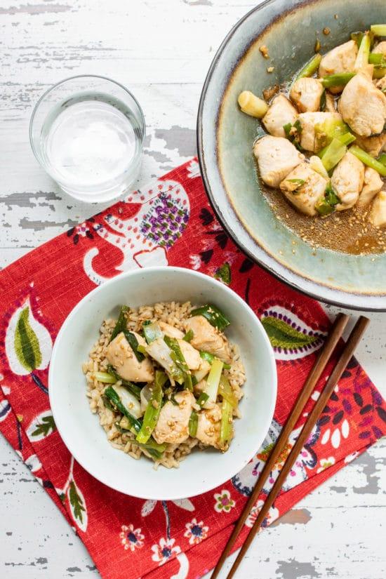 Chinese Scallion Chicken Recipe / Katie Workman / themom100.com / Photo by Cheyenne Cohen