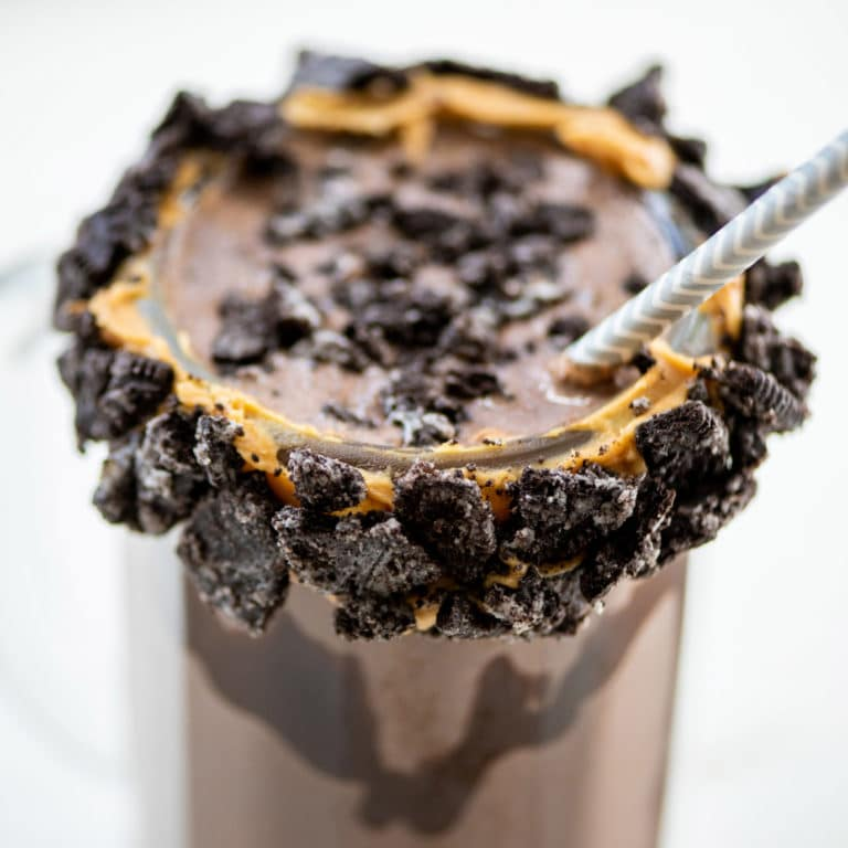 Cookies and Cream Chocolate Milkshake / Katie Workman / themom100.com / Photo by Cheyenne Cohen
