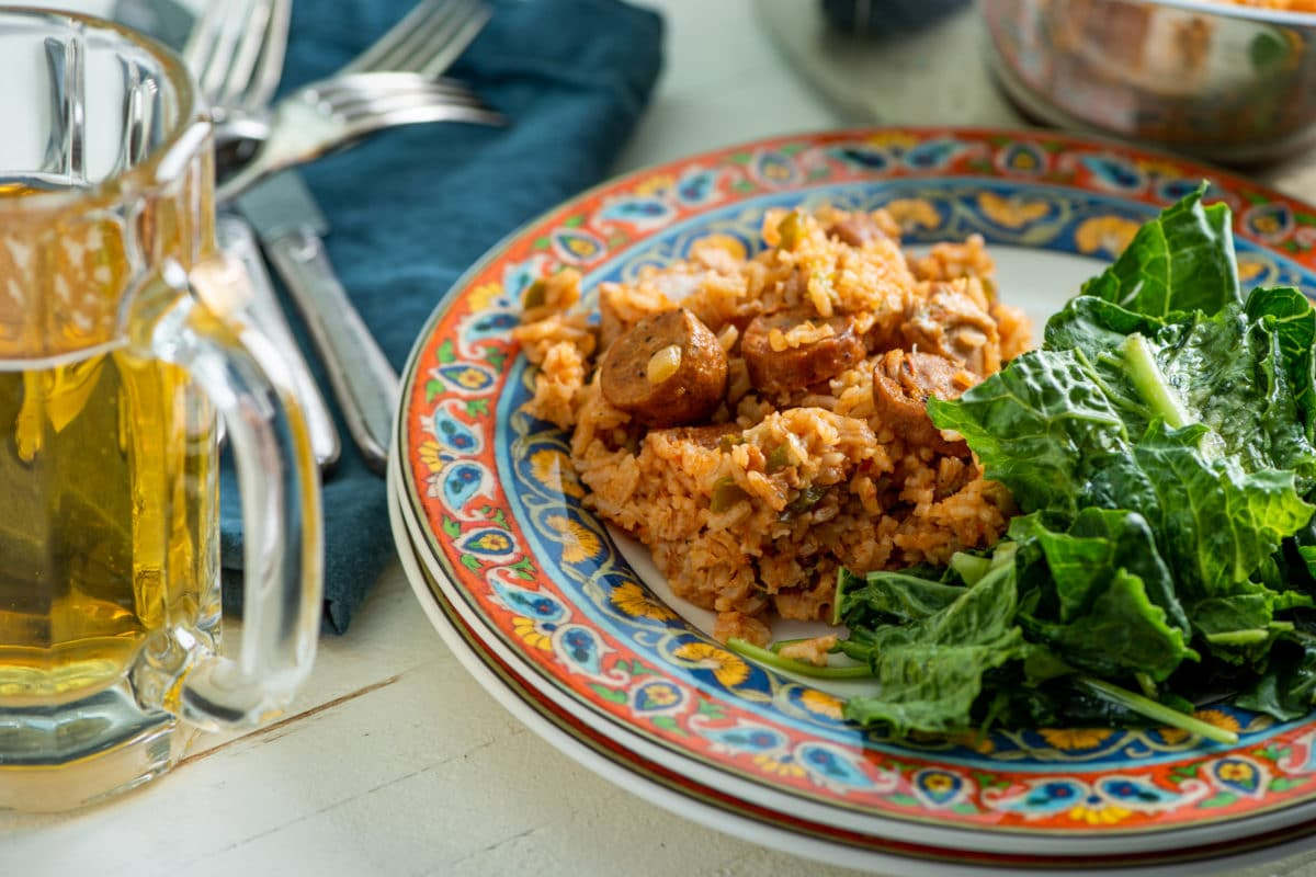 Jambalaya Rice / Katie Workman / themom100.com / Photo by Cheyenne Cohen