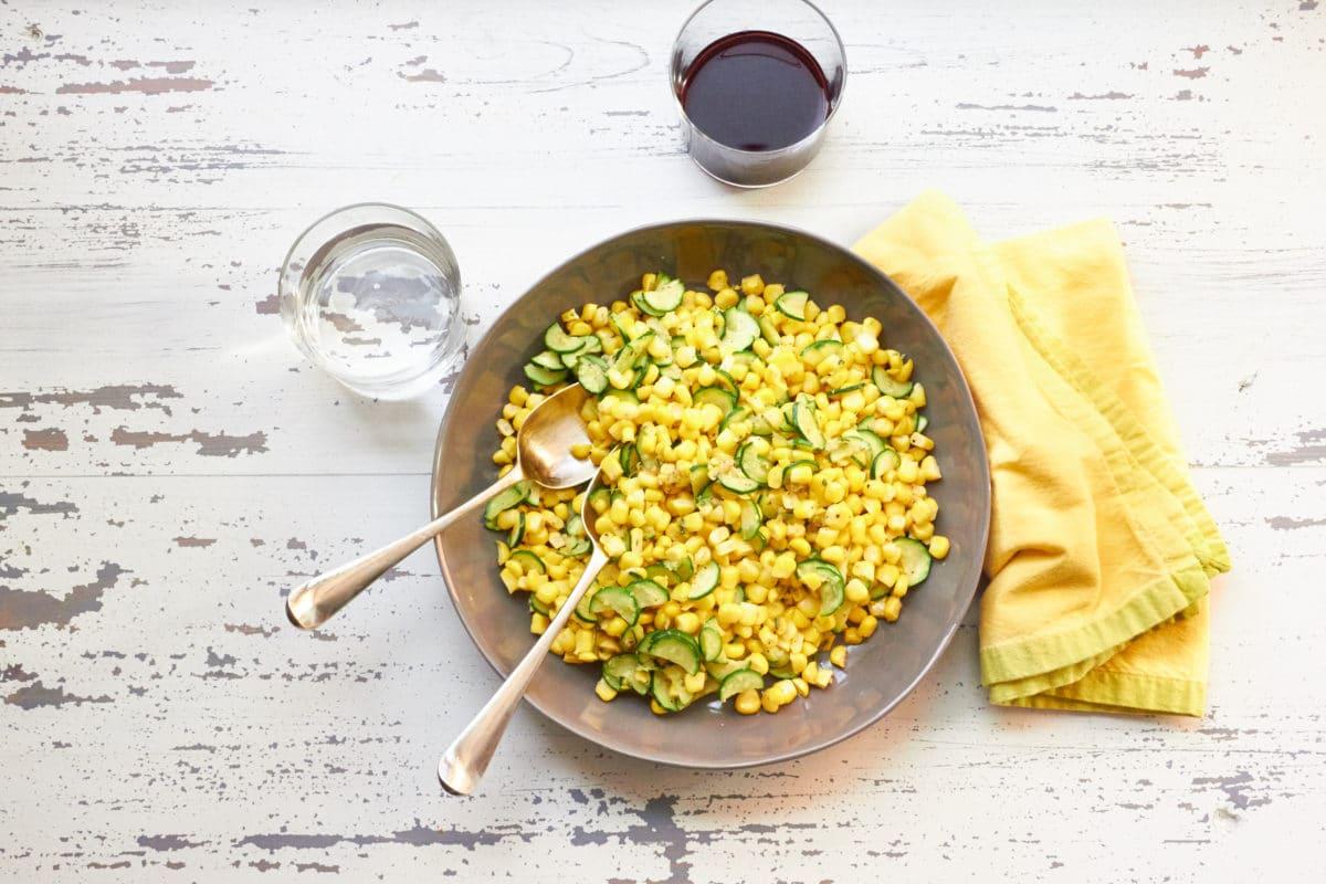 Sautéed Corn and Zucchini in Lemon Browned Butter / Mia / Katie Workman / themom100.com