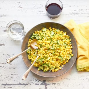 Sautéed Corn and Zucchini in Lemony Browned Butter / Mia / Katie Workman / themom100.com