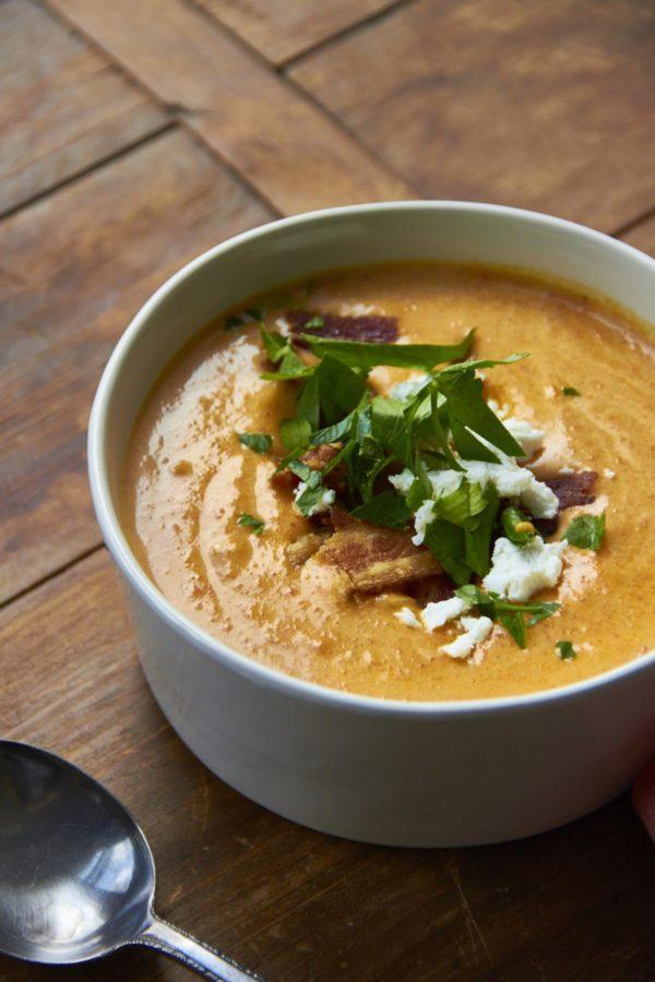 6 Ways to Make Back-to-School Weeknight Dinners Easier/ tips for back to school dinners/ Cream of Carrot Soup / Mia / Katie Workman / themom100.com