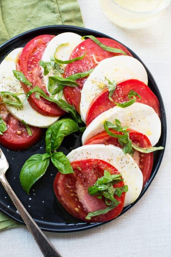 Tomato and Mozzarella Caprese Salad 101 / Mia / Katie Workman / themom100.com