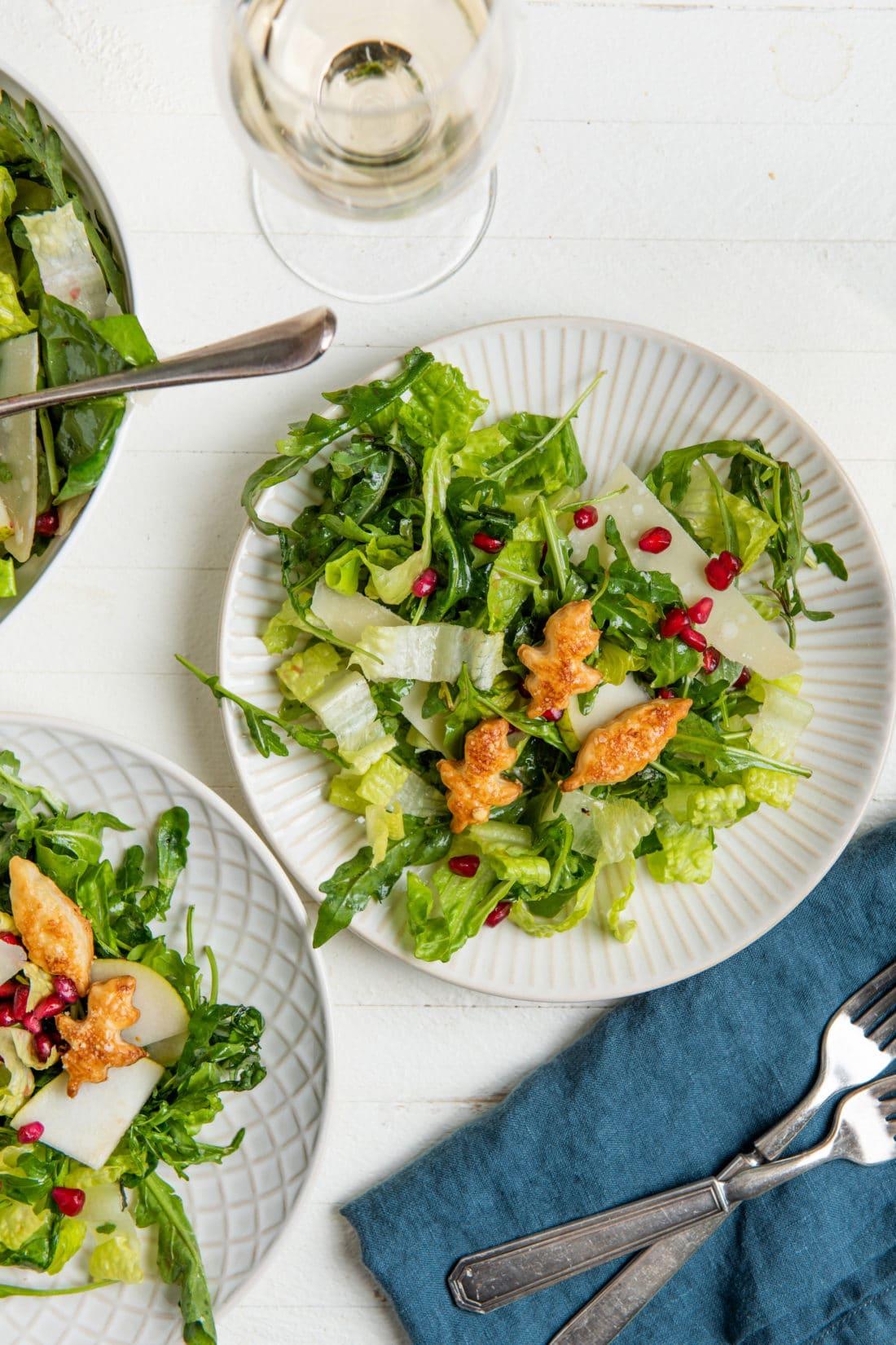 Salads with Pomegranate / Katie Workman / themom100.com / Photo by Cheyenne Cohen