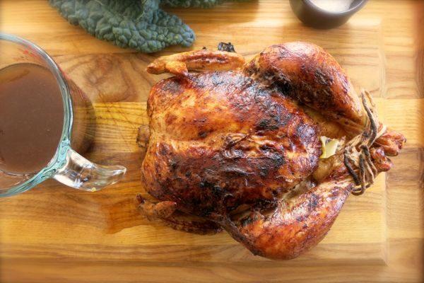 Soy and Mirin Glazed Roast Chicken / Photo byJenny Rosenstrach / www.dinneralovestory.com