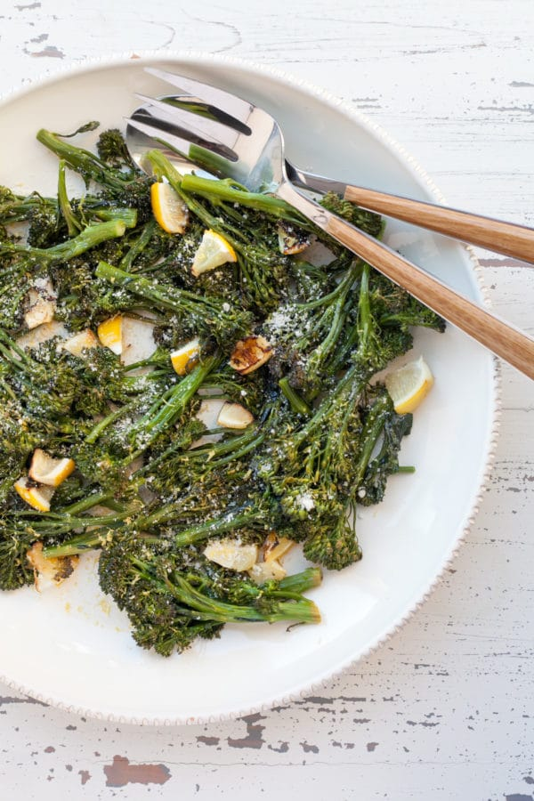 Roasted Broccolini with Lemon / Carrie Crow / Katie Workman / themom100.com