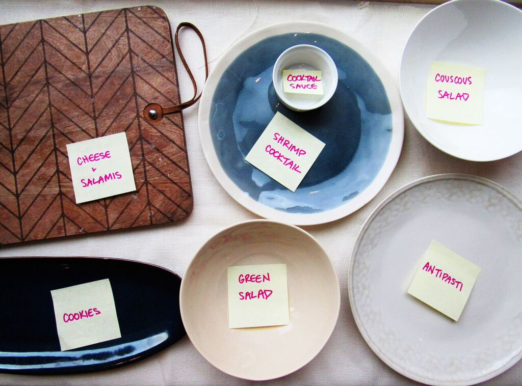Holiday Open House - Plates with Labels
