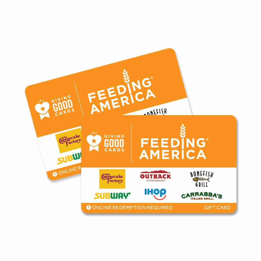 Giving Good Feeding America Gift Card