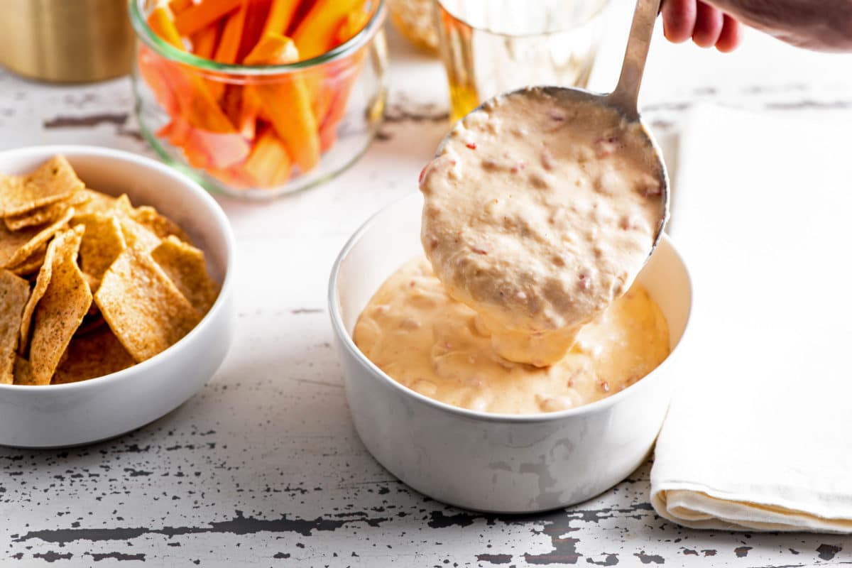 Easy Slow Cooker Hot Pimento Cheese Dip