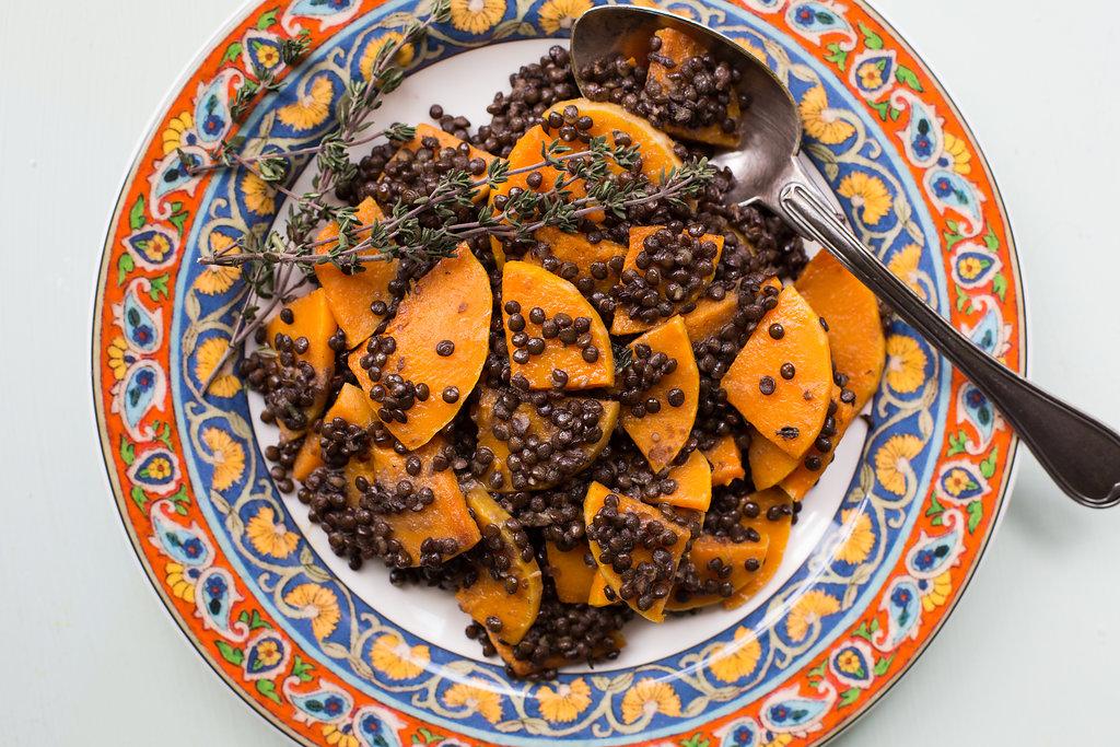 Black Lentil and Butternut Squash with Provencal Vinaigrette / Sarah Crowder / Katie Workman / themom100.com