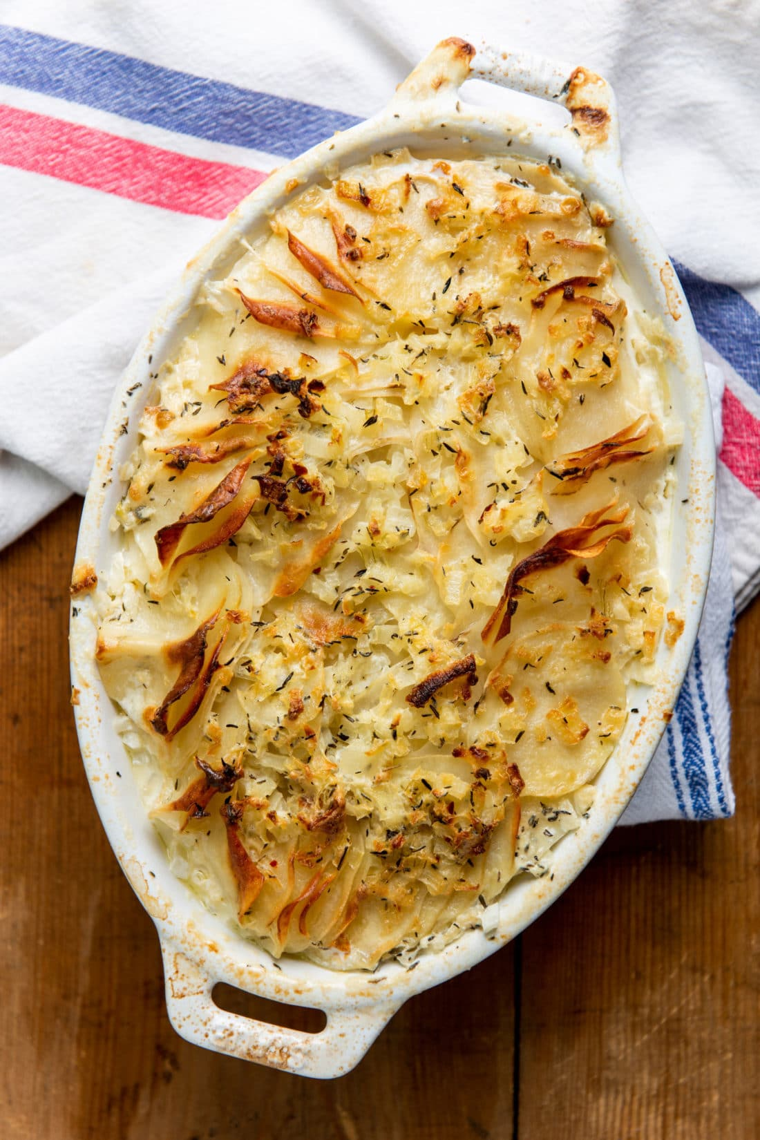Creamy Scalloped Potatoes with no cheese