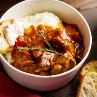 Lamb Stew with White Wine, Orange and Fennel