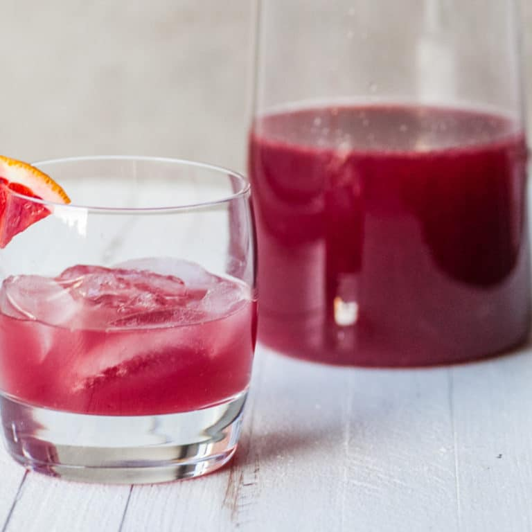 Pitcher Red Cocktail for the Holidays