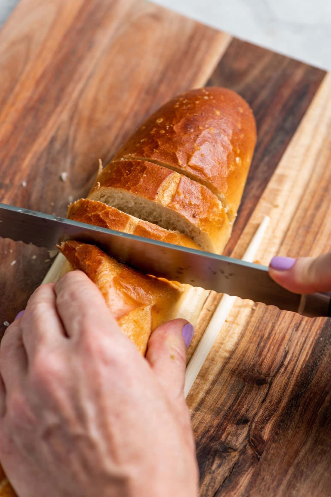 Salsa Verde Garlic Bread