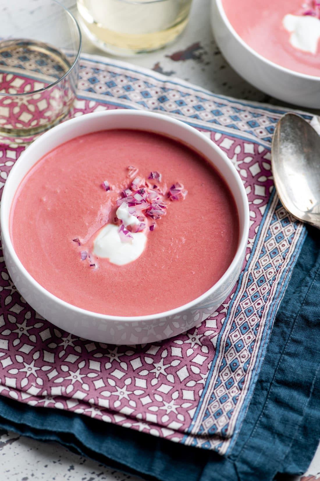 Creamy Roasted Beet Soup
