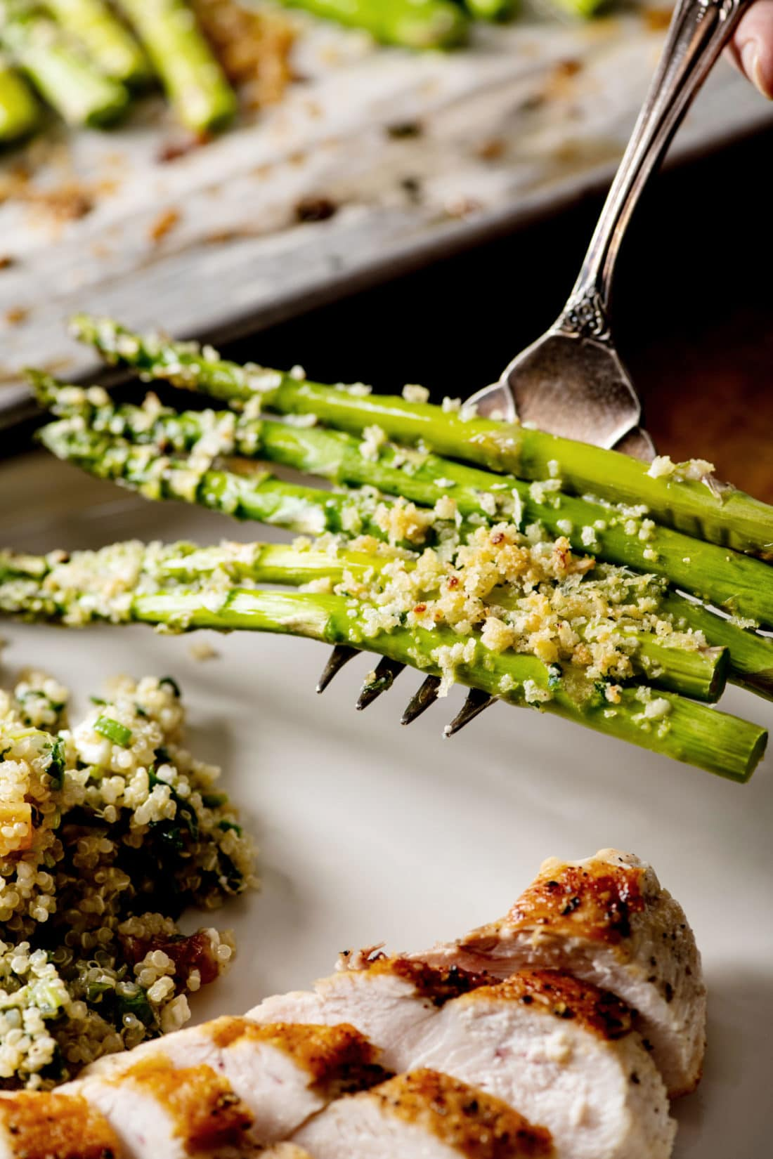 Garlicky Roasted Asparagus with Parmesan