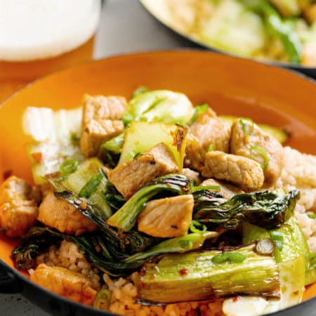 Pork and Bok Choy Stir Fry