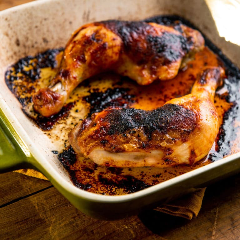 Baked Chicken Legs with Herbs and Lemon