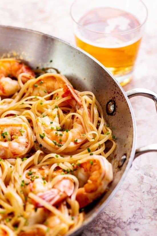 Asian Stir Fried Shrimp and Rice Noodles