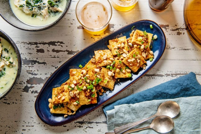 Spicy, Sweet and Nutty Tofu