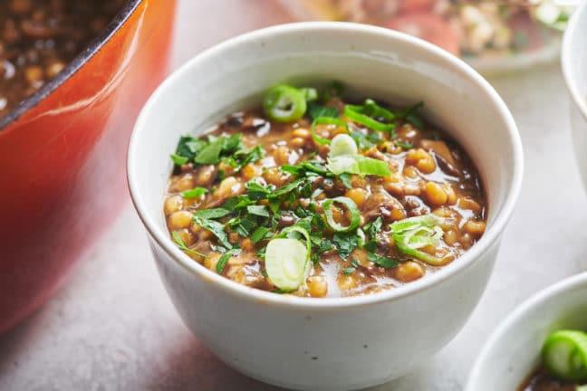 Very Mushroomy Mushroom Barley Soup