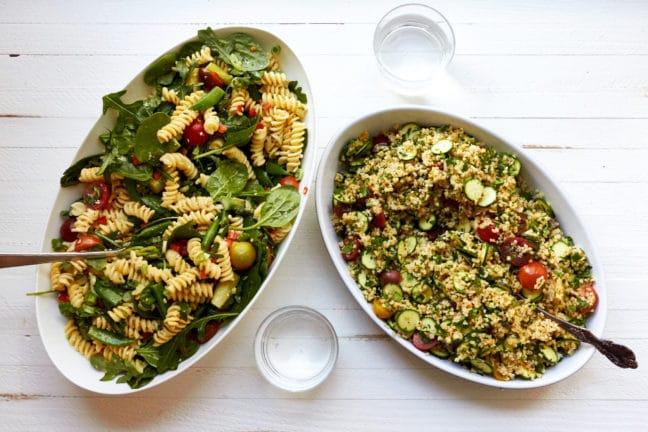 Simple Vegetarian Spring Pasta Salad / Mia / Katie Workman / themom100.com