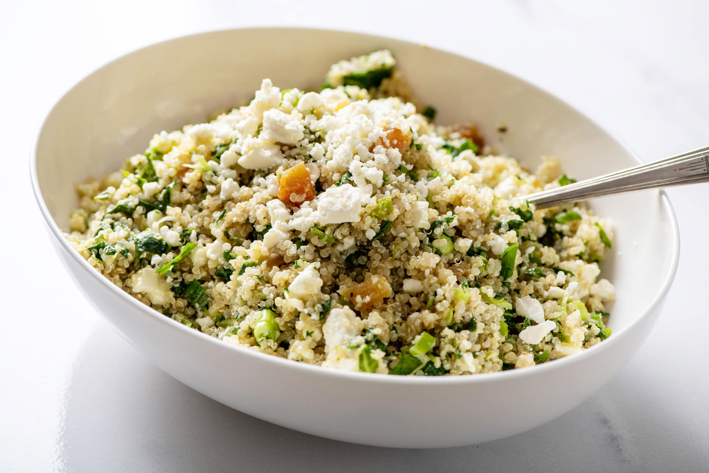Kale Quinoa Salad With Honey Lemon Dijon Dressing The Mom 100