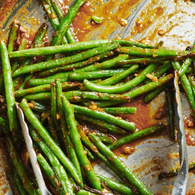 Blistered Green Beans with Miso Butter