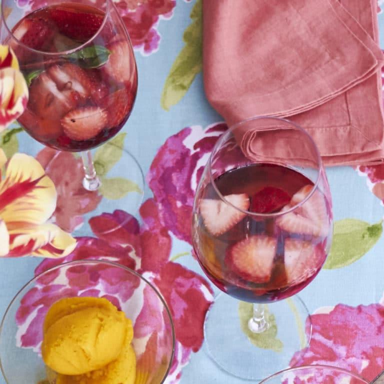 Sparkling Rose Berry Sangria