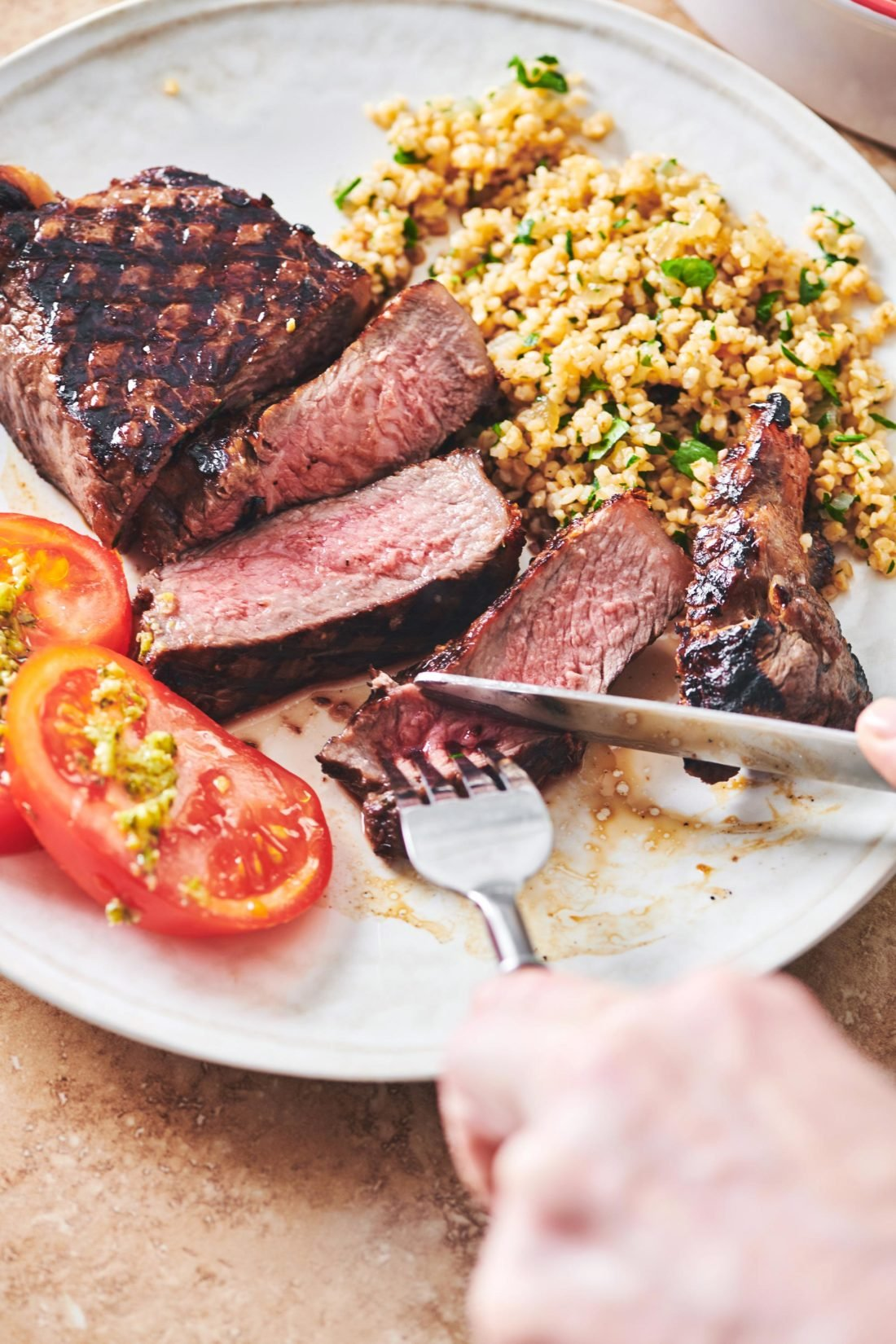 Grilled Marinated NY Strip Steak
