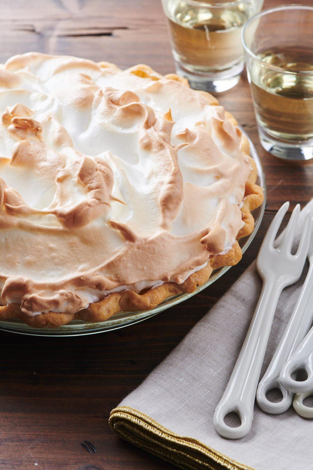 Lemon Meringue Pie with browned top