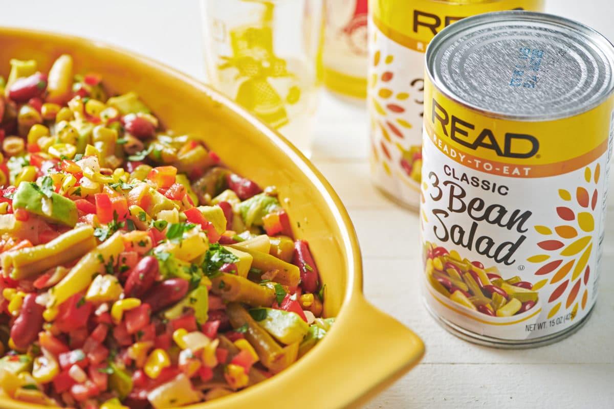 Mexican Avocado, Corn and Three Bean Salad