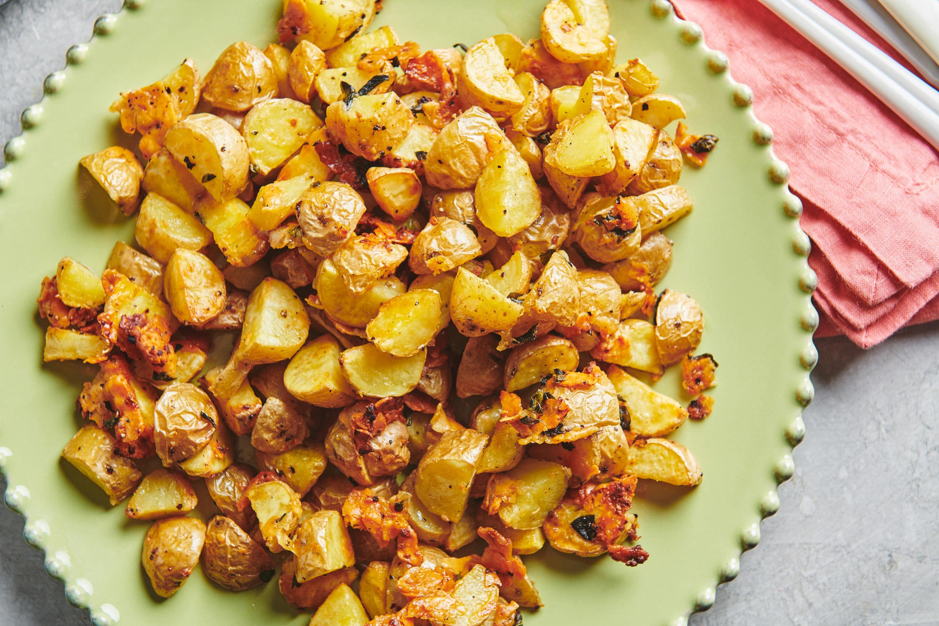The Best Parmesan Roasted Potatoes 30 Minute Side The Mom 100
