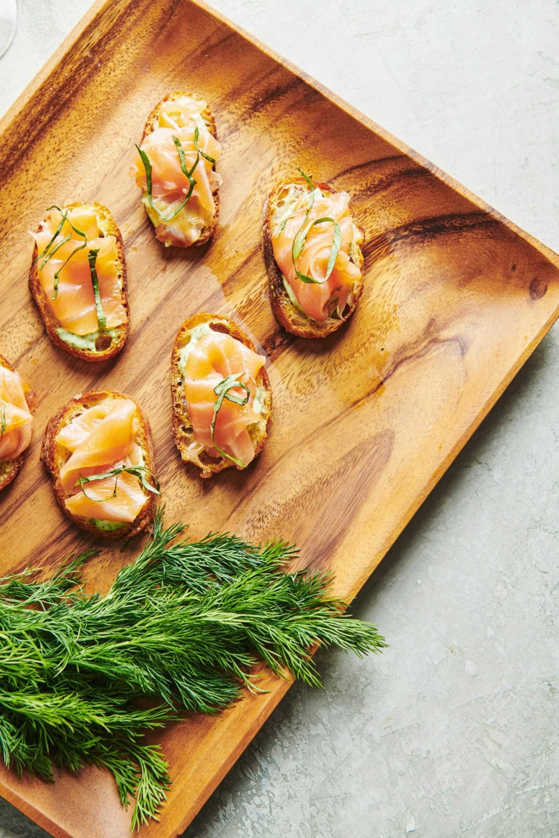 Smoked Salmon Crostini with Herbed Mayonnaise