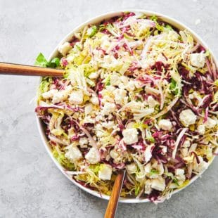Frisee, Radicchio and Escarole Salad with Citrus Dressing