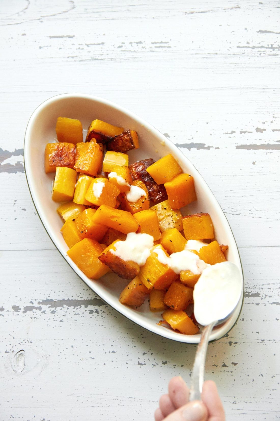Roasted Butternut Squash with Creamy Sauce
