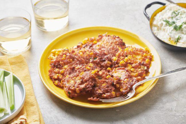 Corn and Zucchini Fritters