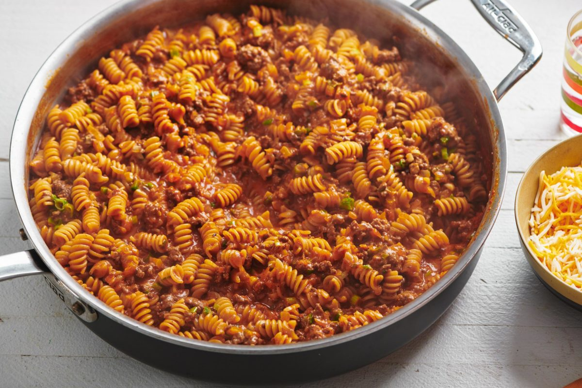One-Skillet Beefy Enchilada Casserole