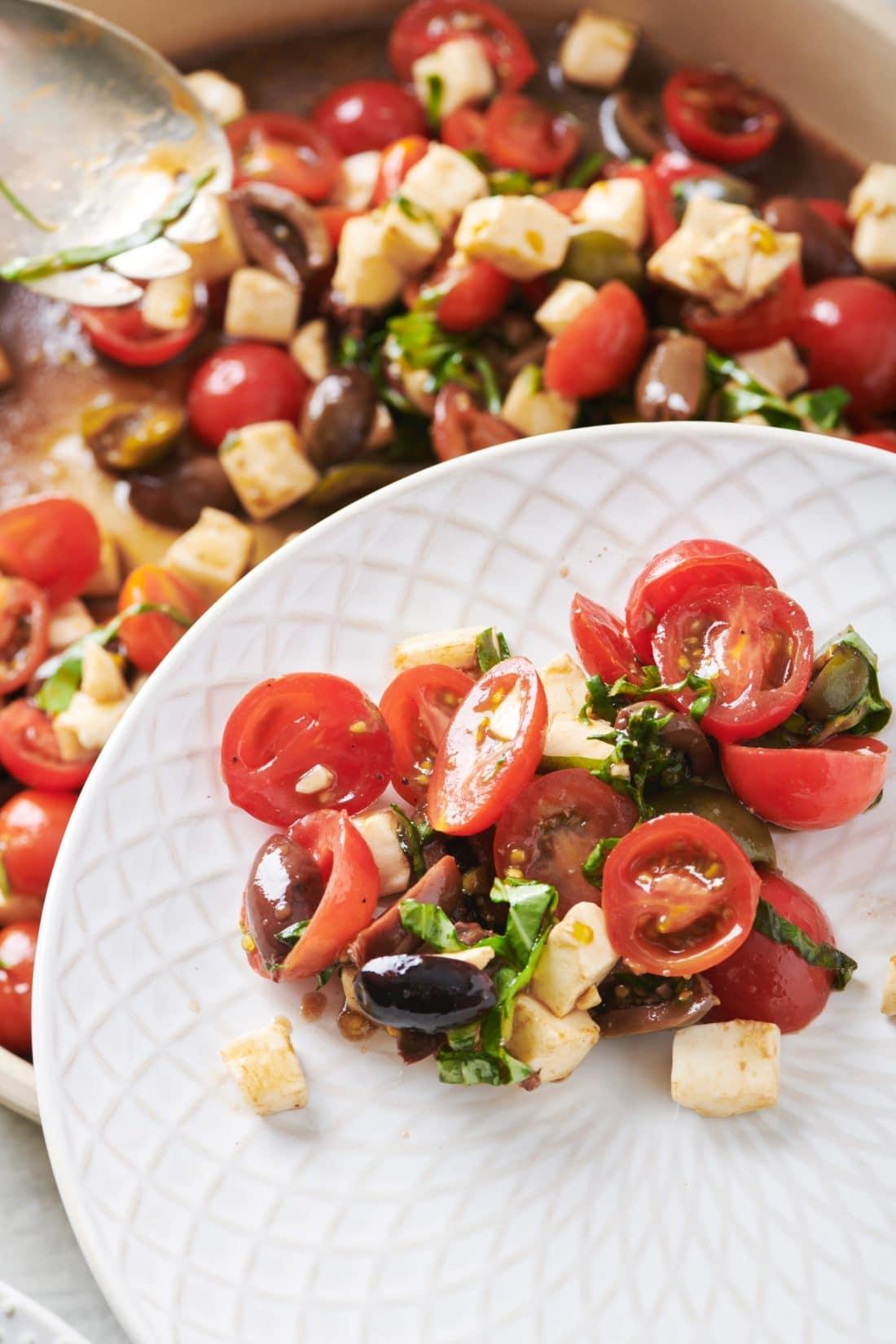 Tomato Mozzarella and Basil Salad