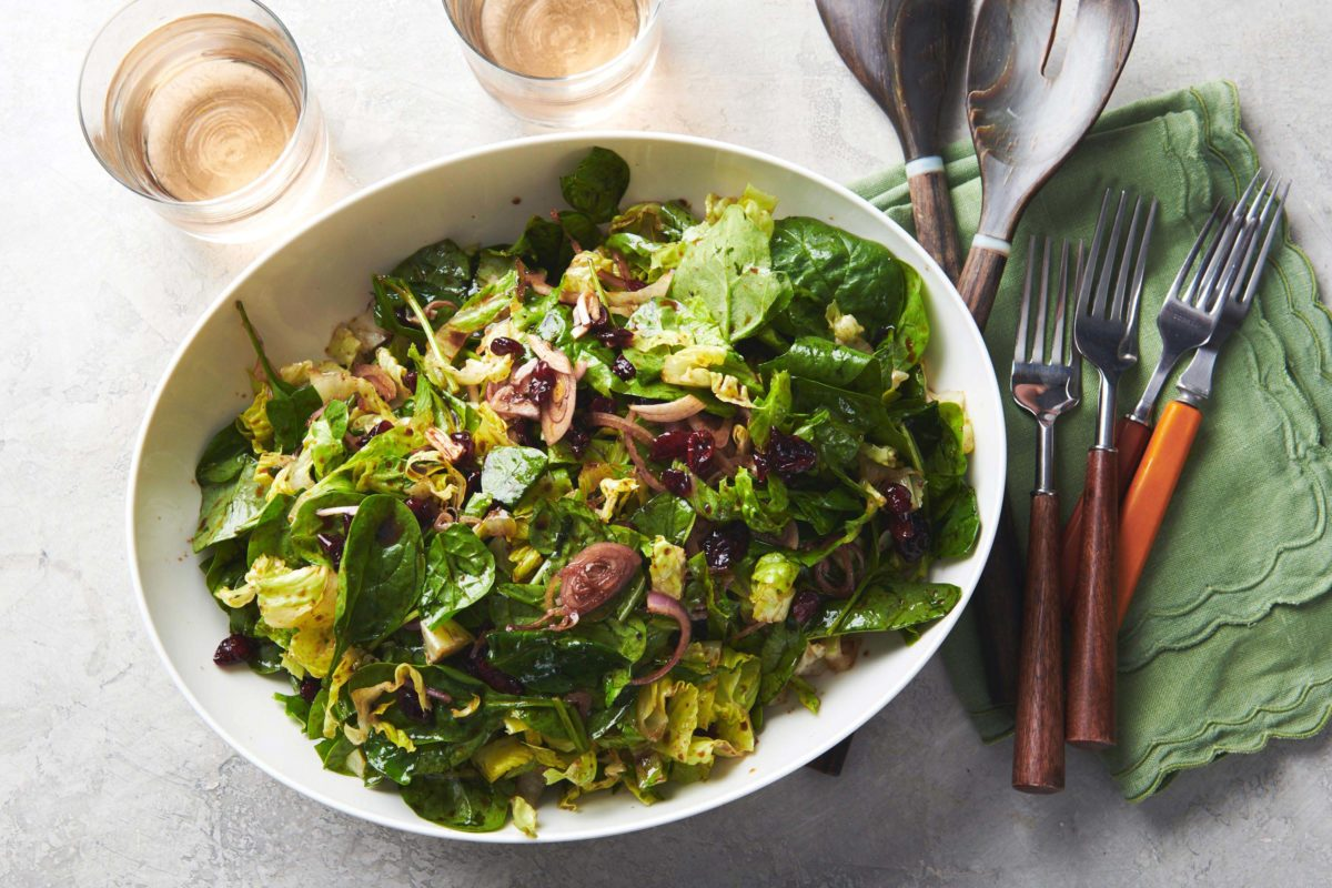 Autumn Salad with Cranberries and Goat Cheese