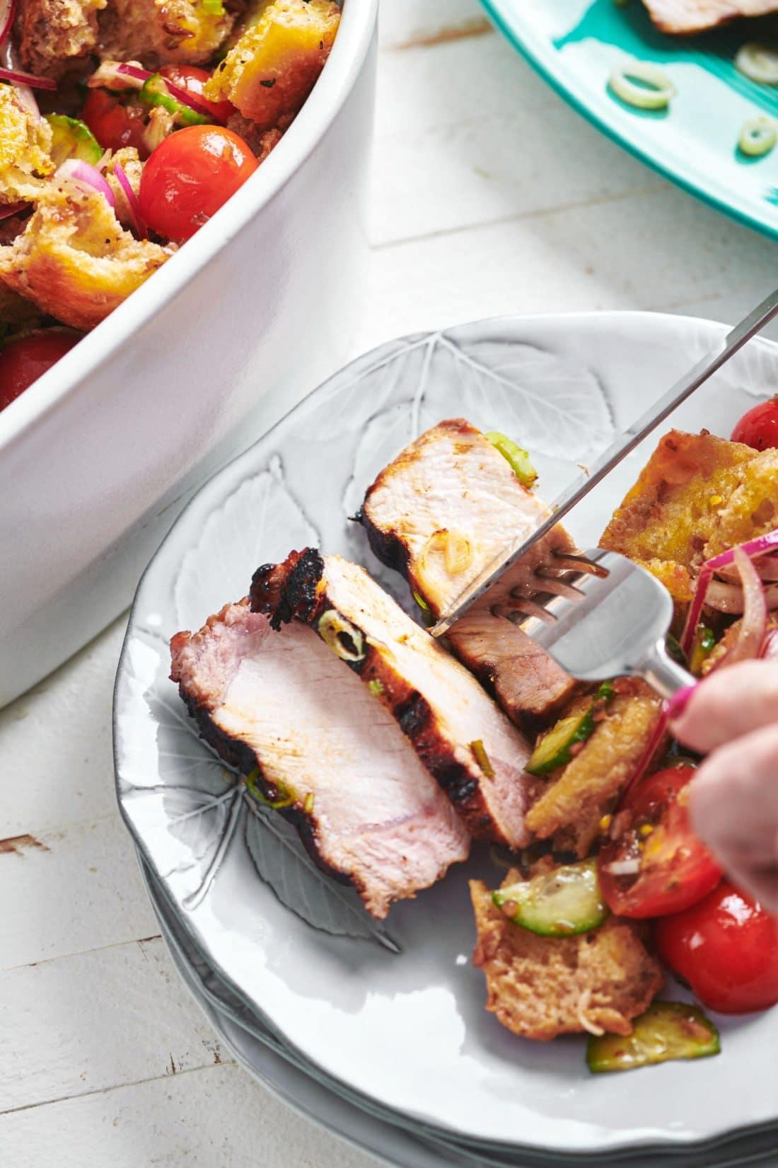 Grilled Soy-Ginger Pork Chops