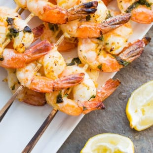 Citrus Basil Shrimp Kebabs