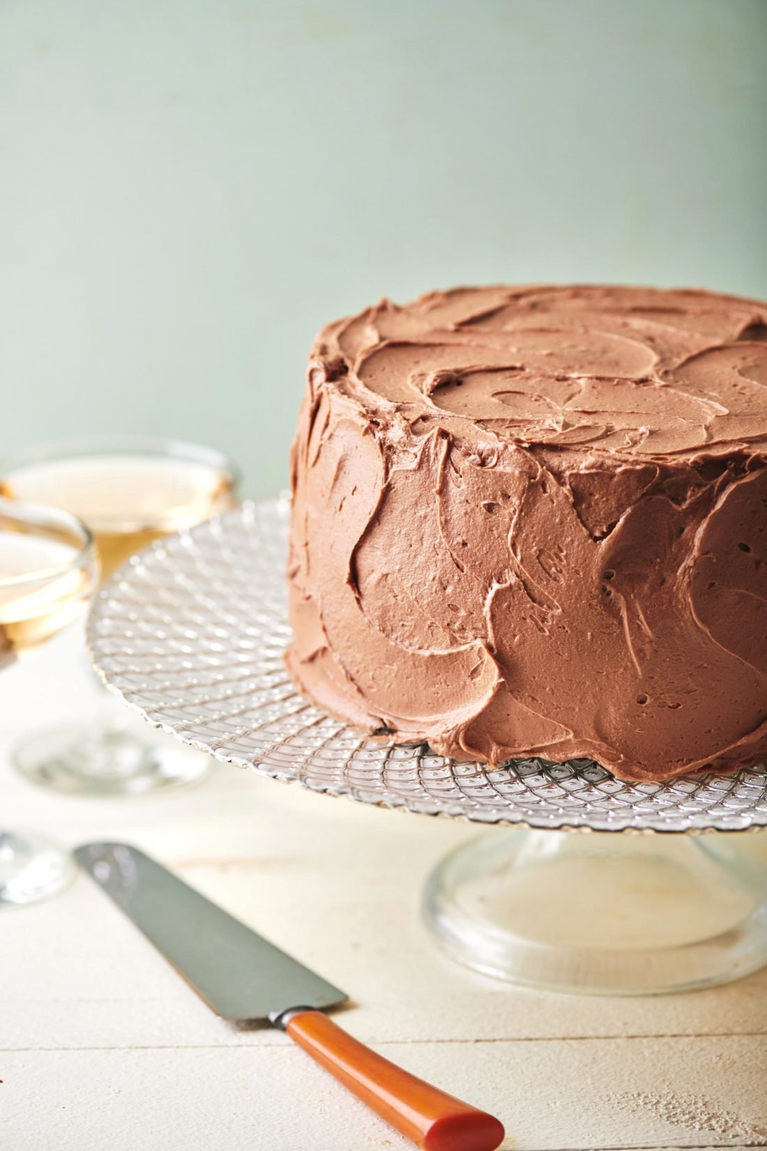 Devil's Food Cake with Chocolate Buttercream Frosting