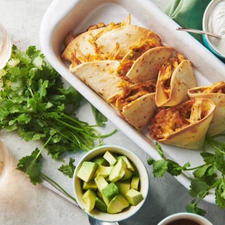 Easiest Baked Chicken Quesadillas