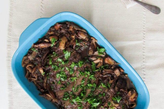 Beef Brisket with Wild Mushrooms