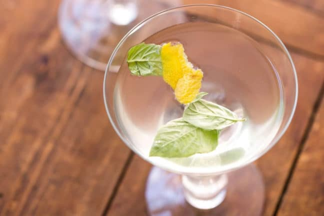 Basil Ginger Lemon Saketini