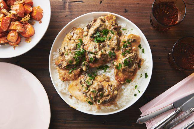 Parmesan Garlic Mushroom Chicken
