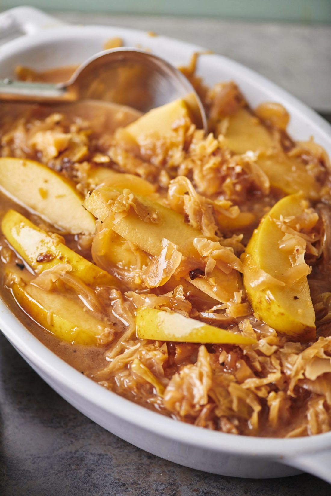 Slow Cooker Fall-Apart Braised Pork with Cabbage and Apples